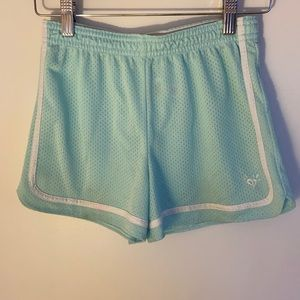 Justice Girls Mint green mesh shorts Size 12